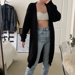 Knit longline cardigan